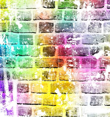 Kleurrijke muurschildering kunst, beeld inspirerende achtergrond.