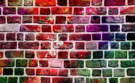 Muro colorato pittura di arte, immagine di sfondo di ispirazione. Archivio Fotografico - 51690967
