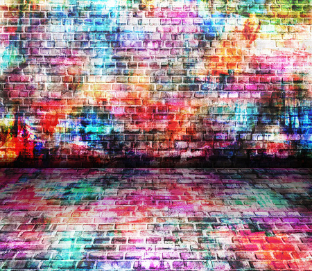 graffiti background: Colorful wall painting art, inspirational background image. Stock Photo