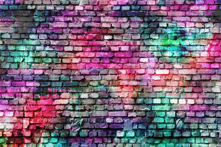 art painting: Colorful wall painting art, inspirational background image. Stock Photo