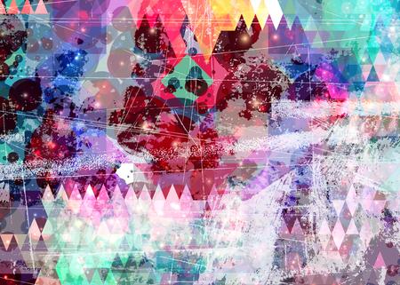 Abstracte kleur splash artistieke achtergrond Stockfoto