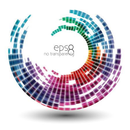 bstract colorful swirl shape illustration, design element.