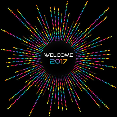 dotted lines: Abstract celebration background with colorful dotted lines