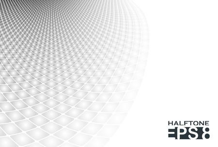Grey: nền halftone vuông trừu tượng với tông màu xám mềm mại. Hình minh hoạ