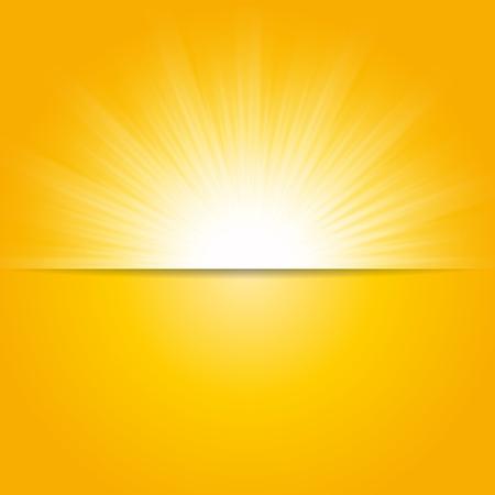 Glanzende zon vector, zonnestralen, zonnestralen achtergrond, banner ontwerp
