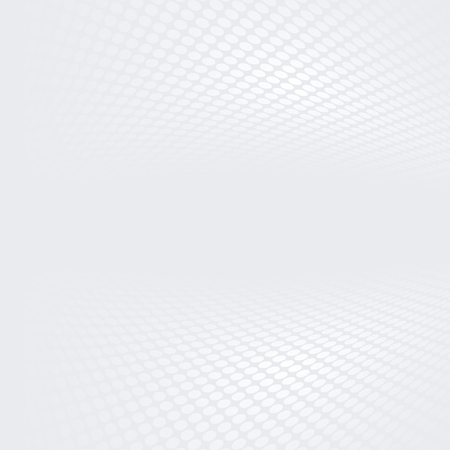 Weiße und graue Raster gepunkteten Perspektive Hintergrund Standard-Bild
