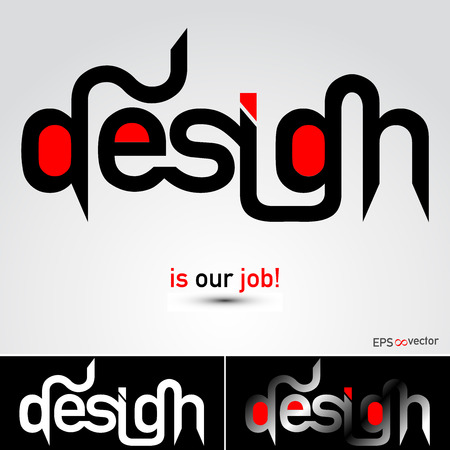 advertising template: Design industry abstract typographic illustration