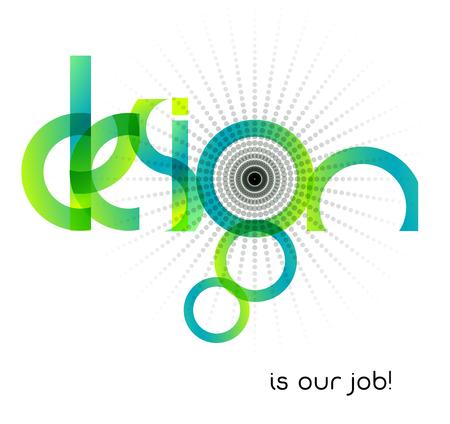 Bedrijfstak Design abstracte typografische illustratie Stock Illustratie