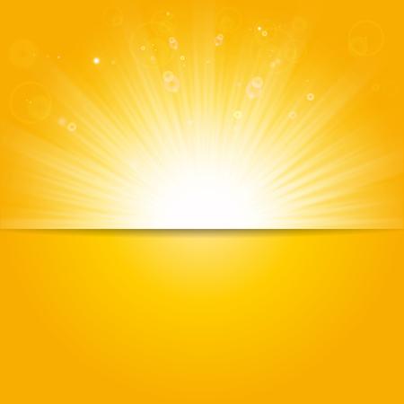 shiny background: Shiny sunlight, summer season background Illustration