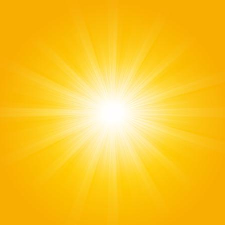 season: Shiny sunlight, summer season background Illustration