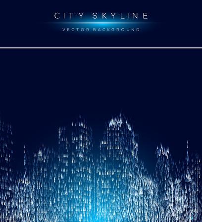 矢印図形と近代的な都市生活の抽象的な背景デザイン。