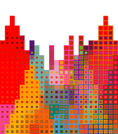 city background: Abstract city silhouette background illustration