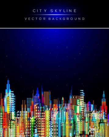 Modern stadsleven abstracte achtergrond ontwerp.