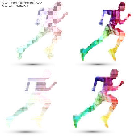 sportsman: Sprinter, sportsman illustrations