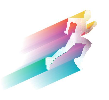 sportsman: Sprinter, ilustración deportista Vectores