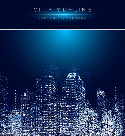近代的な都市生活の抽象的な背景デザイン ドット デザイン コンセプトを。  イラスト・ベクター素材