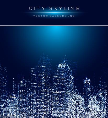 Modern stadsleven abstracte achtergrond ontwerp met gestippeld ontwerp concept. Stock Illustratie