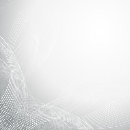 抽象的な灰色波線アート ・背景デザイン