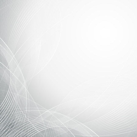 Abstract grey wavy line art background design Banque d'images