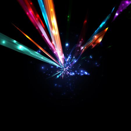 Abstract lightning bolt, high power futuristic background illustration