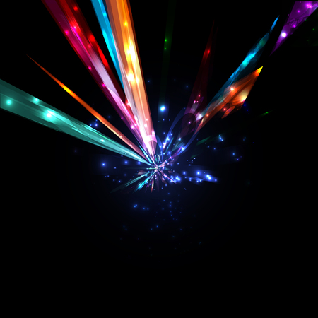 fiber optic lamp: Abstract lightning bolt, high power futuristic background illustration