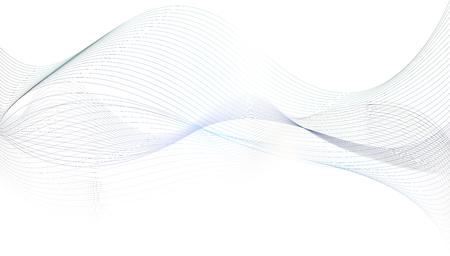 Zusammenfassung grauen Wellenlinien Hintergrund