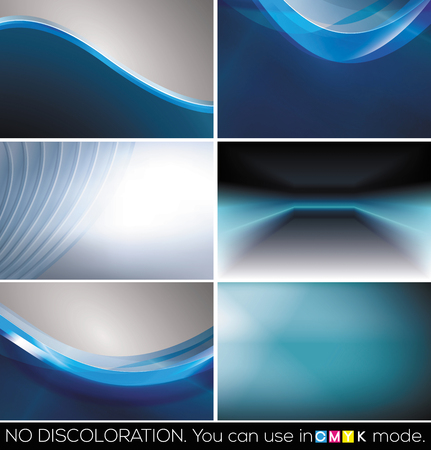 bright card: Set of horizontal business cards, abstract backgrounds Stock Photo