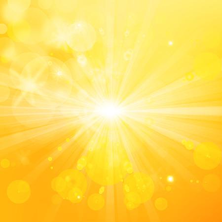 ホットと光沢のある太陽の光、抽象的な夏の背景 写真素材