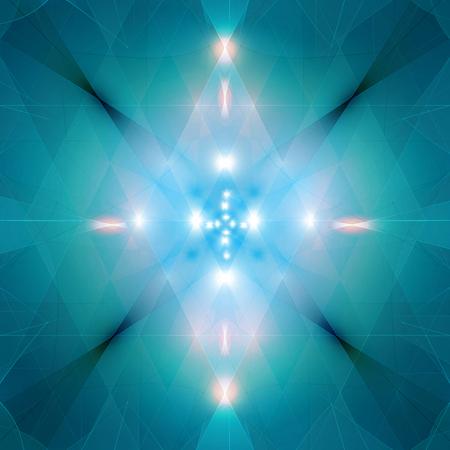 luminary: Shiny blue lights, abstract futuristic background.