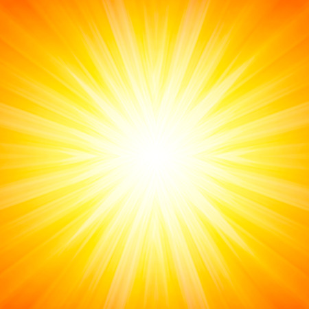hot summer: Hot and shiny sun lights, abstract summer background