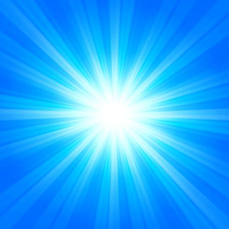 vibrant background: Shiny vibrant blue winter sun beams background