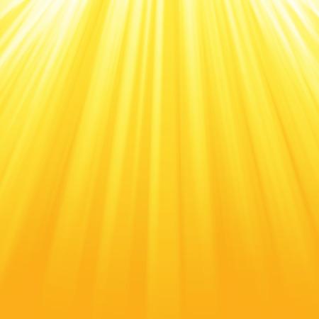ピカピカ太陽ビーム、夏背景。黄色・ オレンジ色のサンバーストの背景