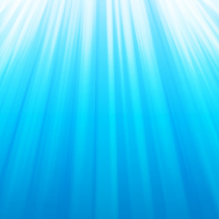 sky dive: Abstract cool blue aqua water sun rays background