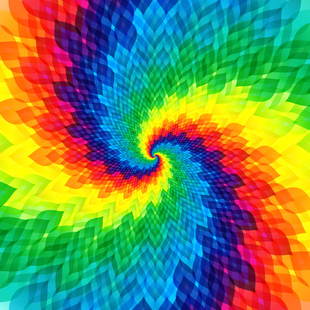 Abstract colorful swirl background with vibrant color tones