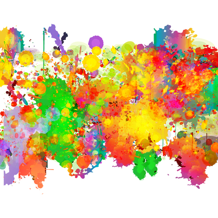 color background: Abstract color splash background
