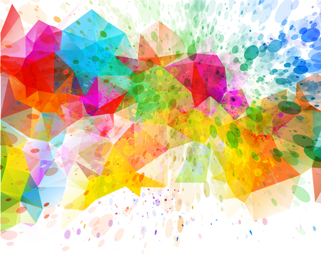 colorful: Abstract color splash background