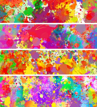 추상적 인 색 스플래시 배경 및 배너 설정 스톡 콘텐츠