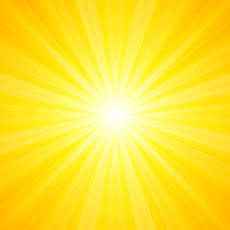 Hot and shiny sun lights, abstract summer background