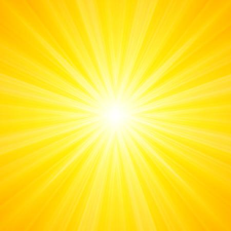 뜨겁고 반짝 이는 태양 조명, 추상 여름 배경