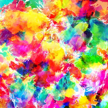 活気に満ちた抽象的な背景を色します。