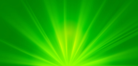 Abstract green sunrays, environmental concept spring background Stock Photo