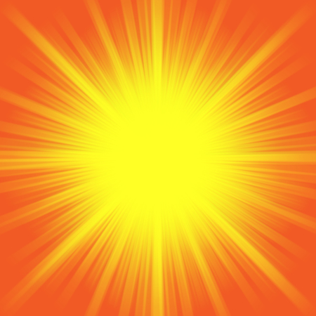 Hot shiny summer sun light background image illustration.