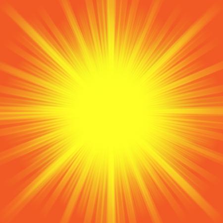 Hot shiny summer sun light background image illustration.