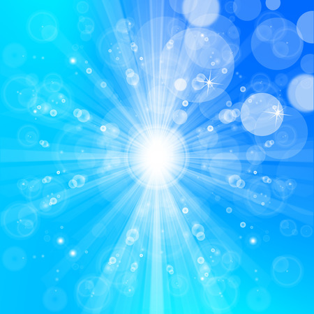 Shiny and cool summer sun lights, bokeh background design.