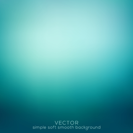 Soft and smooth abstract elegant, gradient mesh background. Vector illustration, turquoise color tone. Illustration