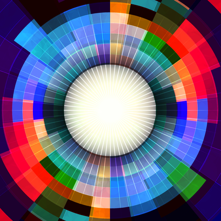 Abstract perspective shiny background & banner design with vibrant colors.
