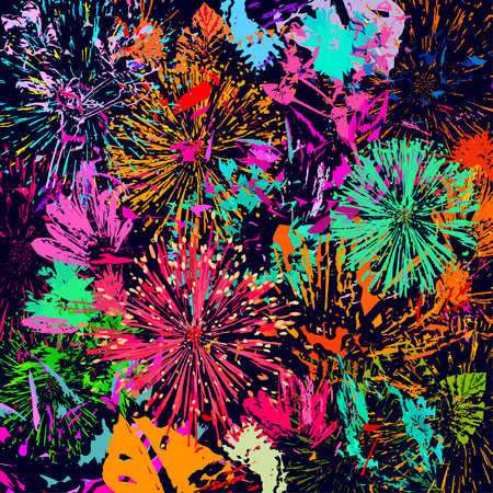 Abstract colorful flower illustration.
