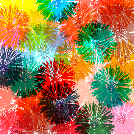 Abstract colorful flower illustration (Not used auto trace)