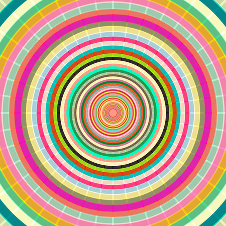 rythm: Abstract circles background design with retro concept color design.