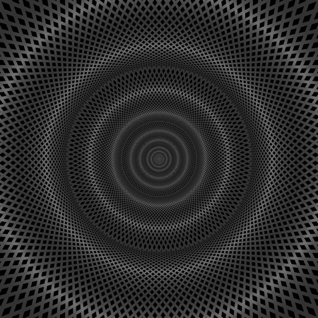 chrome: Abstract technology concept, moving radial lines background.